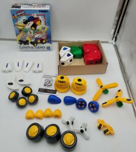 TOMY Constructables Motorized Building Vehicles Complete with Extras.