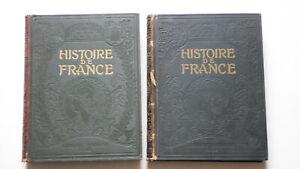 HISTOIRE DE FRANCE ILLUSTRÉE, LAROUSSE 2 VOLUMES BON ÉTAT