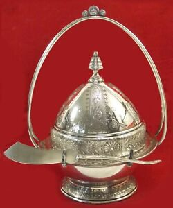 Antique Reed & Barton Silver Plated Domed Butter Keeper Beautiful!
