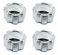 "4x Helo Chrome Wheel Center Hub Caps 6""OD Snap-In for 8x170 HE791 Maxx"
