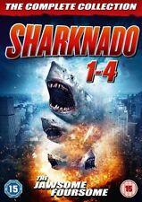 Sharknado 1 2 3 4 1-4 Region 2 DVD New (4 Discs)