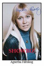 ABBA - AGNETHA FALTSKOG LARGE UNIQUE SIGNED AUTOGRAPH POSTER PHOTO PRINT -