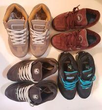 Lot of 4 used Size 6.5 7 7.5 Mens Boys Sneakers Van's DVS Skate Shoes