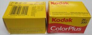 2 Rolls Kodak Color Plus 200 135-24 24 Exp. Color Negative Film OUTDATED 02/2018