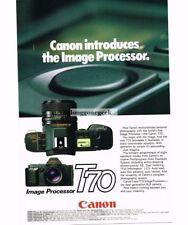 1984 Canon T70 35mm SLR Camera Vtg Print Ad