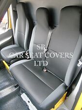TO FIT A FORD TRANSIT VAN, SEAT COVERS, ANTHRACITE BLACK SPORTS MESH