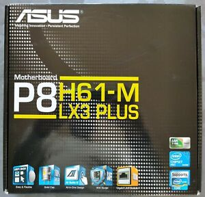 ✅Carte Mère Asus P8H61-M LX3 Plus / Socket 1155 / DDR3 / USB 2.0 / SATA II
