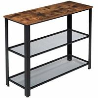 Industrial Console Table, high sideboard, Rustic Brown Hallway Sofa Table