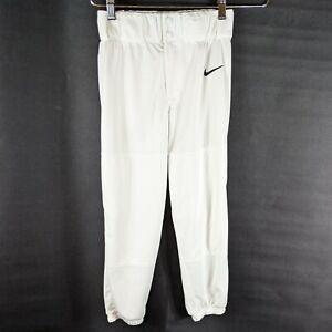 Nike Boys Youth Baseball Pants White Size Medium