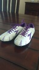 Girls youth Diadora Verona 1.5 Soccer Shoes Cleats Purple and white
