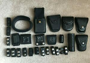 Vintage Safariland Police Duty Belt Holster, Tex Shoemaker, Alamo Handcuff Cases
