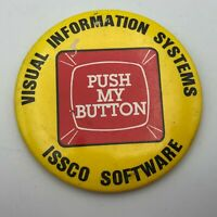"RARE ISSCO SOFTWARE 3"" Pin Pinback Button Advertising Vintage SD Specialties N9"