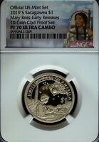2019 S NGC Proof 70 UCAM Sacagawea Mary G. Ross Dollar☆Early Release☆Portrait