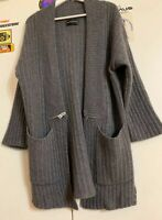 ZADIG & VOLTAIRE DELUXE CASHMERE GREY CARDIGAN Size M**bargain**