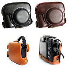 For Canon G15 G16 Powershot Leather Camera case bag Grip Strap