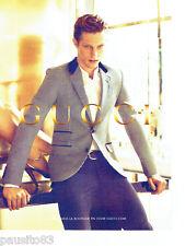 PUBLICITE ADVERTISING 1016  2012  Gucci  haute couture homme