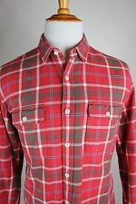 J Crew Sporting Goods Shirts Red Mens Size Large Flannel Plaid