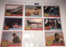 SUPER RARE star wars the force awakens trading collectors cards x8 Vintage Card