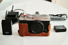 Fujifilm X-E3 24.3 MP Mirrorless Camera (Body Only) w Thumb Grip, Shutter Button