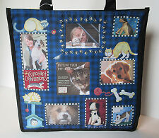 Debbie Mumm Pet Photo Tote Bag by Enesco / Gregg Gift Whimsical Cats & Dogs NEW