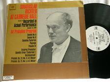 SVIATOSLAV RICHTER at Carnegie Hall Vol 4 Prokofiev Program Columbia 2 eye 2 LP