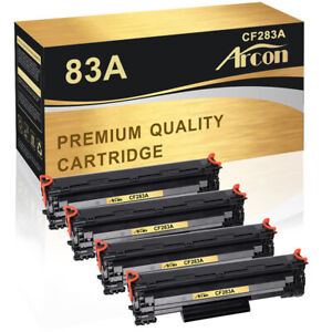 4PK Toner Compatible for HP 83A CF283A HP LaserJet Pro M125nw M127fn M127fw MFP