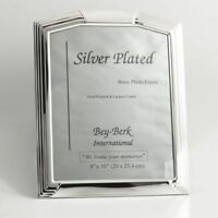 "Bey Berk Silver Plated 8""X10"" Picture Frame With Easel Back"