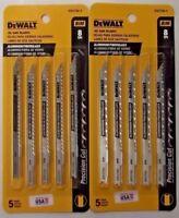 "DEWALT DW3705-5 4"" x 8 TPI Cobalt Steel U-Shank Jig Saw Blades 2-5 PKS USA"
