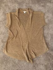 9ba4973d9ed Coldwater Creek Women's Short Sleeves Open Front Cardigan size XL(18) Gold