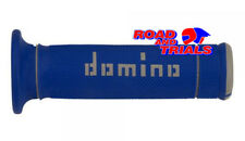 NEW DOMINO DUAL COMPOUND TRIALS GRIPS BLUE & WHITE MX TRAILS