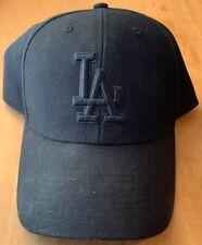 47 Brand Los Angeles Dodgers Clean Up MLB Adjustable Hat Cap All Black on Black