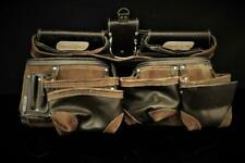 AWP HP Tool Rig Bag Leather Belt Brown General Construction Flip Pocket Pouch