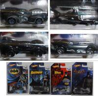 4 Models Car Batman Scale 1/64 Batmobile Batcopter 75. Anniversary Hot Wheels