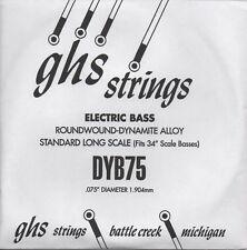 Corde basse 1 corde GHS-DYB75 - à l'Unité - ROUNDWOUND - DYNAMITE ALLOY