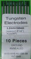 10 Electrodos Tungsteno PURO Soldadura TIG 3,2 x 150 mm EWP VERDE soldador