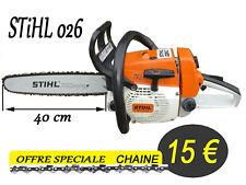 tronconneuse piece CHAINE pour guide coupe 40cm  se monte sur STIHL 026    ab
