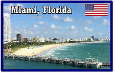 MIAMI, FLORIDA, USA - SOUVENIR FRIDGE MAGNET - BRAND NEW - GIFT