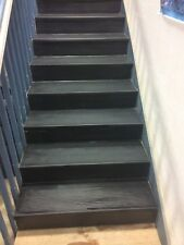 "12-1/4"" x 48"" Roppe Black Rubber Stair Treads"