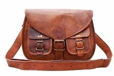 New vintage women handmade leather bag leather purse gypsy shoulder cross body