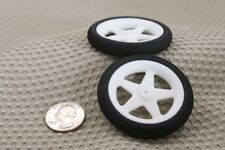 "(2) 2 1/4"" THIN FOAM SPOKE WHEELS TIRE FOR RC AIRPLANE NEW US SELLER"