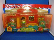 Fisher Price Little People Maggie's Preschool school sealed on go fold 1999 NEW