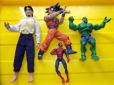 lotto 4 figure action hulk bragon ball spiderman principe disney store