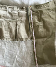 Girls Size 7-8 Uniform Khaki Bottoms Stretch Skirt, Capri Pants #704