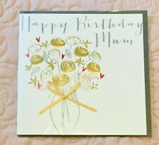 "Mother's Birthday Card ""Happy Birthday Mum"" Pretty Special Lovely Flowers Design"