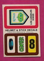 1979-80 TOPPS LA KINGS  HELMET AND STICK DECALS INSERT NRMT+ (INV# 8245)