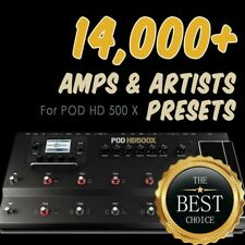 ✪ 14,000+ presets ✪ for Line 6 POD HD 500X ✪ patches bundle Collection✪