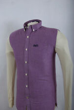 L165/65 Superdry Sleeveless Cotton Purple Casual Oxford Shirt, size S