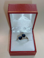 925 STERLING SILVER SAPPHIRE RING - SIZE V 1/2