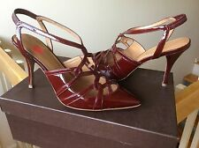 Women's shoes Elie Tahari heels Preston pumps patent leather Red Sangri Sz 6 NIB