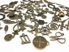 10 Assorted Charms Antique Bronze Tone Mixed Pendants Jewelry Making Supplies